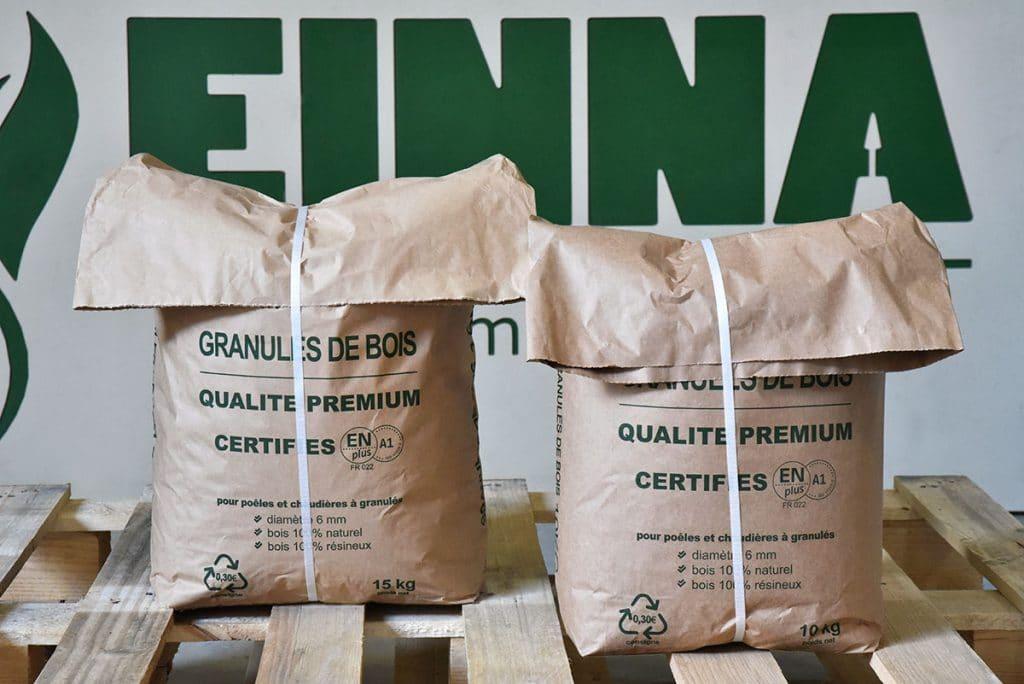 Sacs de pellets de bois fabriqués et livrés dans le Rhône