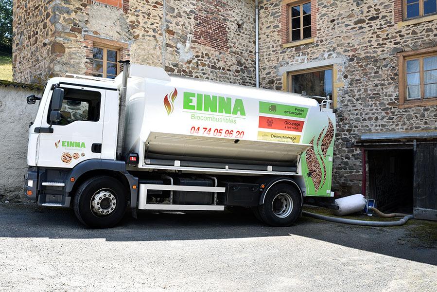 Livraison en vrac dans le Rhône de granulés bois certifiés ENplus